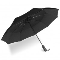 UROPHYLLA Umbrella, Windproof Umbrella Travel Umbrella Compact Automatic Open and Close Umbrella Lightweight 9 Ribs Golf Umbrellas One Handed Operation Umbrella-Black